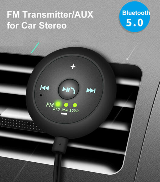 AUX in Bluetooth Wireless Receiver Adapter FM Transmitter for Car Stereo Audio $14.92