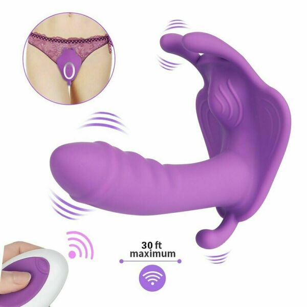 Wearable Vibrater Panty Women Massager Wireless Remote Control Toy Rechargeable