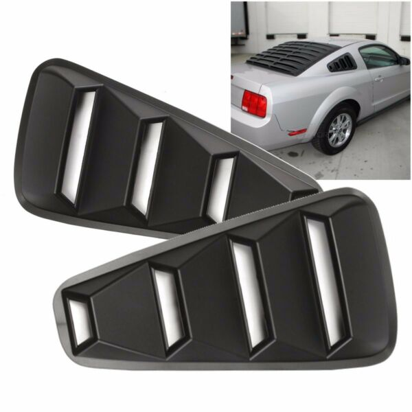 For 2005-14 Ford Mustang 14 Quarter ABS Side Window Louvers Scoop Cover