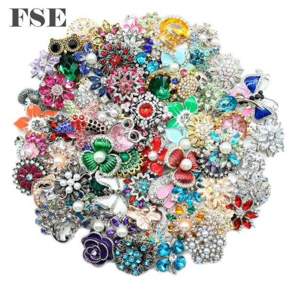 50pcs Top Mix Rhinestone 18mm Snap Button Snap Charms For 20mm Snap Jewelry 8011