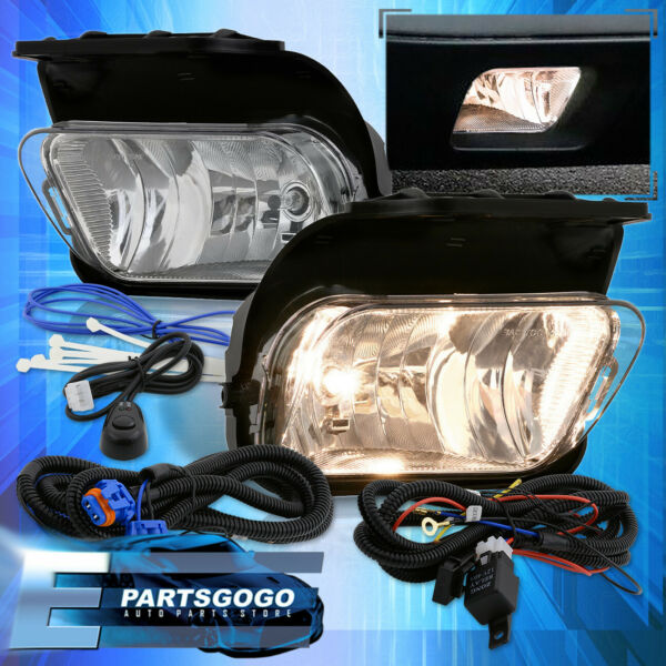 For 03-06 Silverado Avalanche Clear Bumper Fog Lights Lamps Left Right + Switch