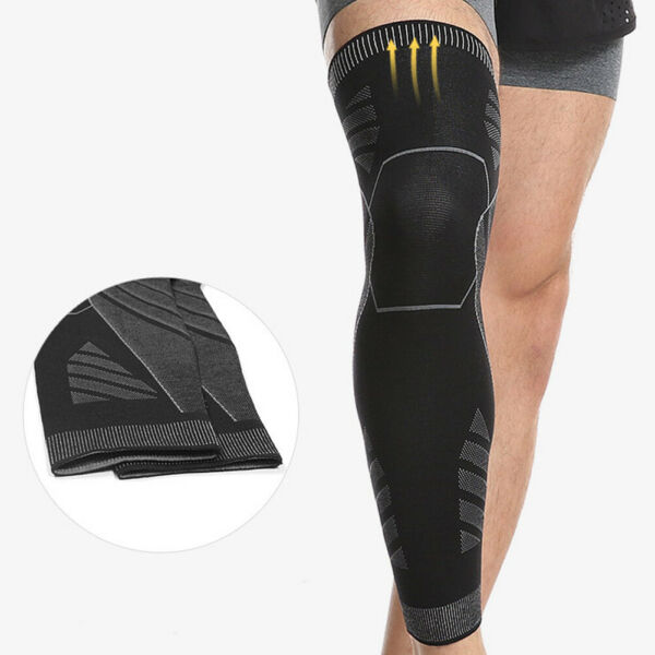 Long Compression Knee Brace Basketball Sport High Thigh Leg Sleeve for Men Women
