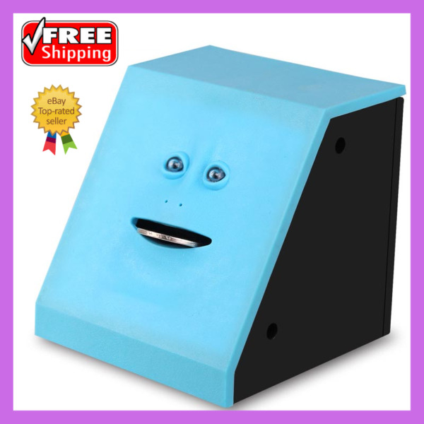 Face Money Eating Box Automatic Saving Bank Chewing Piggy Bank 50% OFF Today $21.51