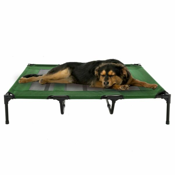XL Dog Bed Indoor Outdoor Raised Elevated Cot and Travel Case 48 x 35 In $44.99