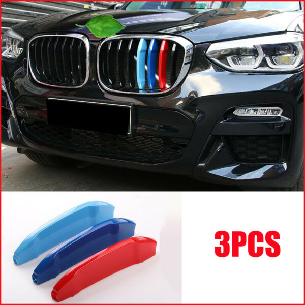 For 2018-up BMW G01 X3 w 7 M-Color Grille Insert Trims Standard Grille Beams