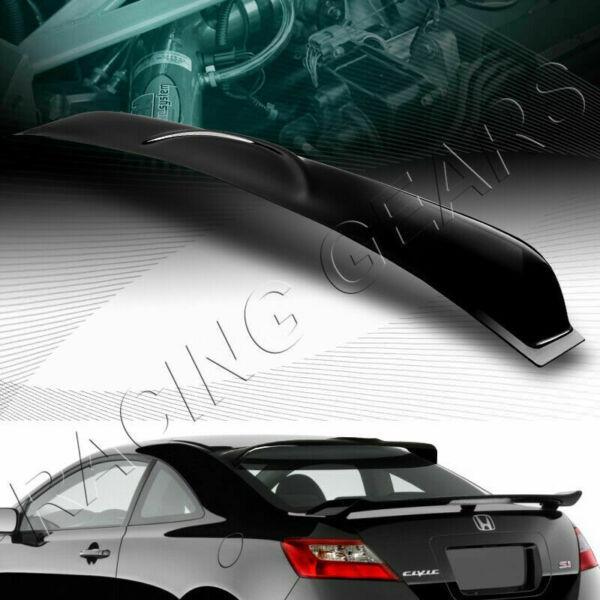 FIT 2006-2011 HONDA CIVIC COUPE BLK ABS REAR WINDOW ROOF VISOR SPOILER WING