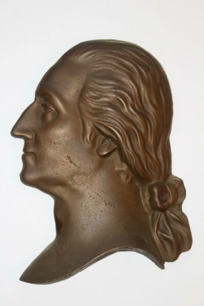 Antique George Washington Large Cast Iron Head Silhouette