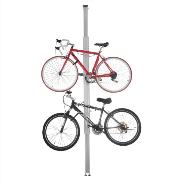 Aluminum Bike Stand Bicycle Rack Storage Display Holds 2 Bicycles 7 11 Feet $69.99