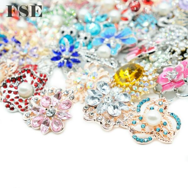 Wholesale 18mm Snap Button Multi Rhinestone Snap Charms For 20mm Snap Jewelry 12