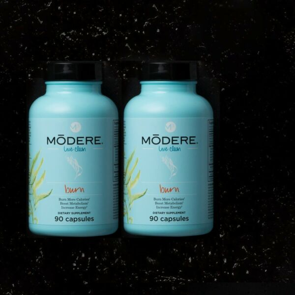 SALE 2 PACK Modere BURN M3 System 180 Capsules Energy Weight Loss $82.99