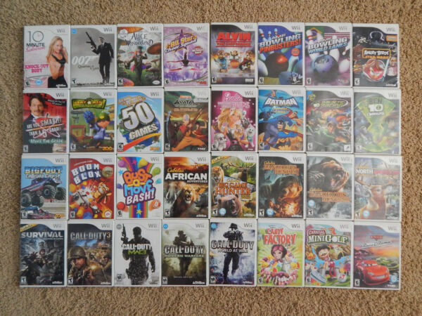 Nintendo Wii Games You Choose from Large Selection $8.95 Each