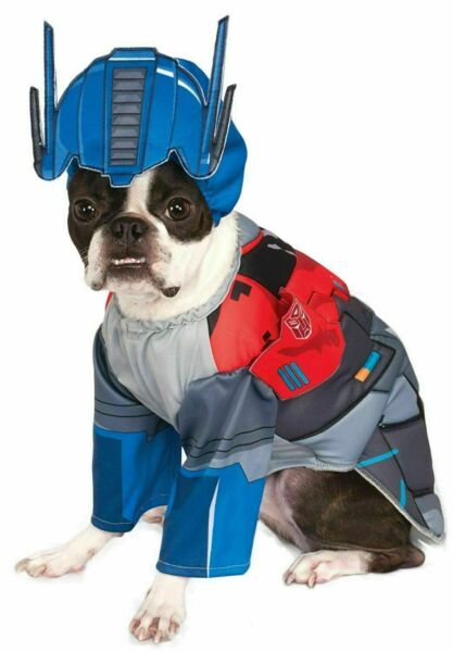 TRANSFORMERS OPTIMUS PRIME PET DOG COSTUMES SIZE SMALL MED amp; LARGE NEW $4.99