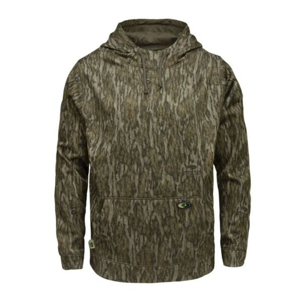 Mossy Oak Men#x27;s Performance Fleece Camo Hoodie Hunting Clothes for Men