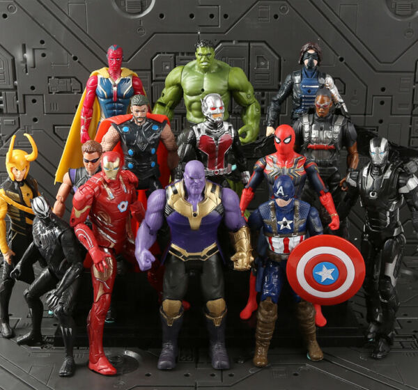 Avengers Action Figures Toy Set 14 Pcs Hero - IronMan Hulk Spiderman Thanos Thor