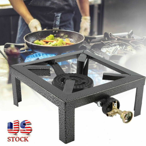 Portable Camp Stove Single Burner Cast Iron Propane Gas Stove Outdoor BBQ Cooker