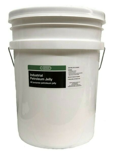 Amber Industrial Petroleum Jelly USP - 5 Gallon Pail (640 ounce) Bulk