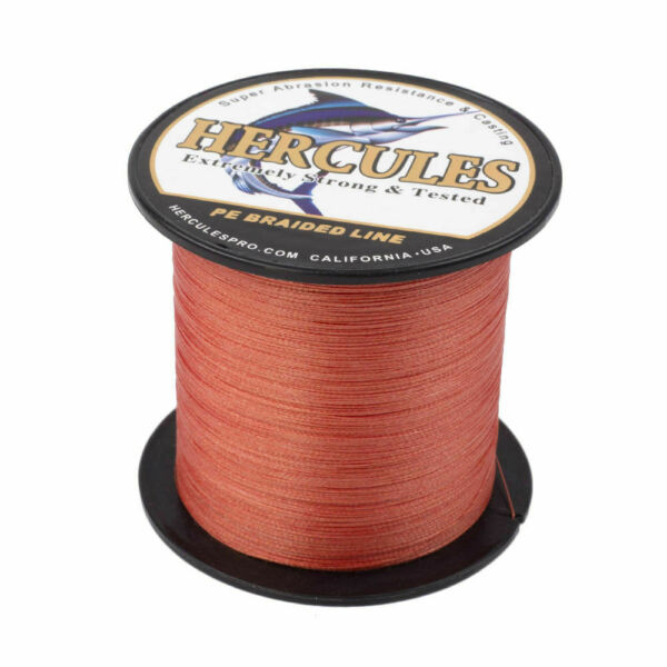 Hercules Red 109YD -2187YD 6lb-300lb 4 8 Strands Strong PE Braided Fishing Line