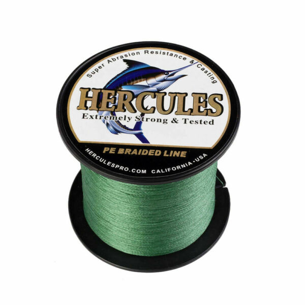Hercules Green 100m-2000m 6lb-300lb PE 4 8 Strands Braided Fishing Line Tackle