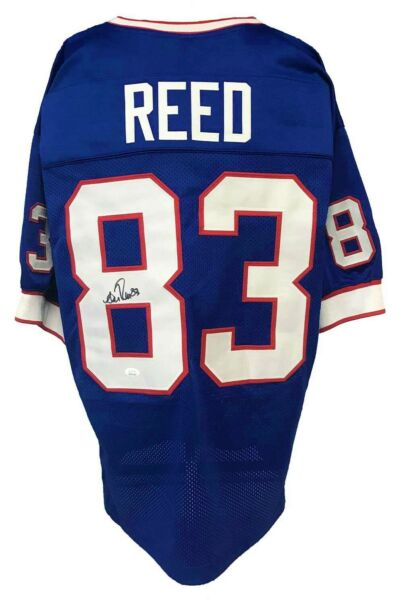 Andre Reed Autographed Pro Style Blue Jersey JSA Authenticated
