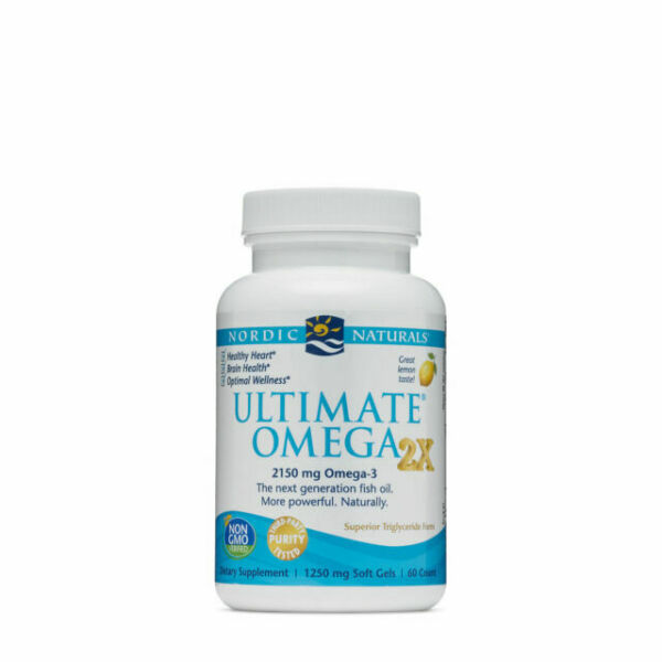 Ultimate Omega 2x 60 Capsules Lemon 2150 mg Omega 3 $27.99
