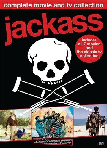JACKASS COMPLETE MOVIE & TV COLLECTION DVD 7 Movies + TV Vol 1 2 3 + Lost Tapes