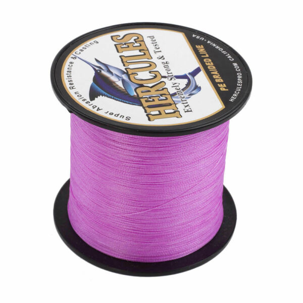Hercules PE Weave Pink 109-2187yds 6lb-300lb 48 Strands Braided Fishing Line