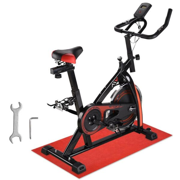 Stationary Exercise Bicycle Cycling Indoor Bike Cardio Workout Fitness Movable $214.90