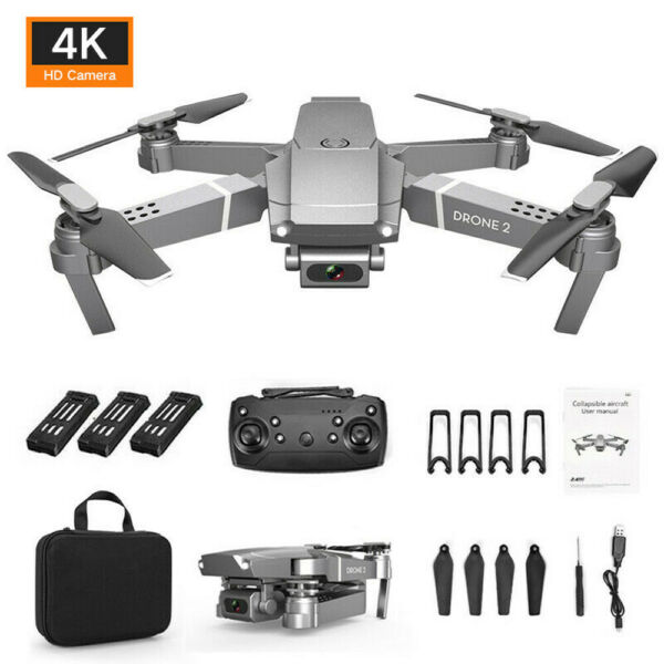 2.4G Selfie WIFI FPV 6 Axis Drone With 4K HD Camera Foldable RC Quadcopter RTF -