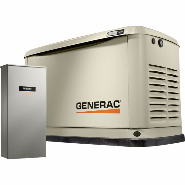 Generac Guardian 7039 Generator- 20kw w 200a Automatic Transfer Switch
