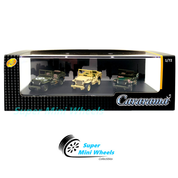 Cararama 1:72 1 4 Ton Military Vehicle Green Khaki Camouflage 3 Car Set $8.49