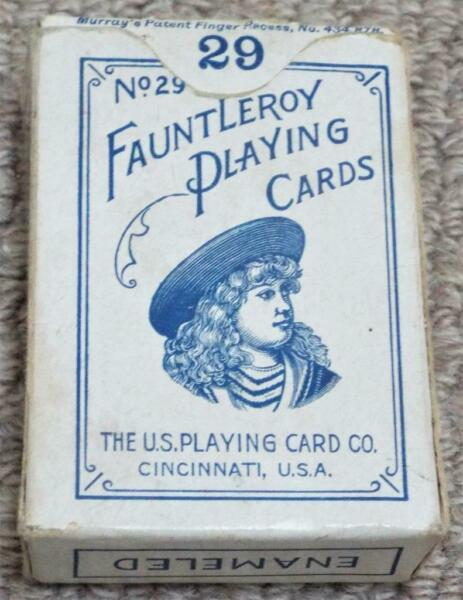 Fauntleroy No 29 Antique Boxed Pack of Miniature #29 Patience Playing Cards