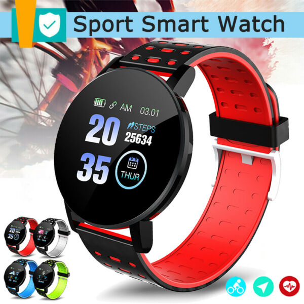 Waterproof Smart Watch Heart Rate Monitor Sport Fitness Tracker For iOS Android $8.99