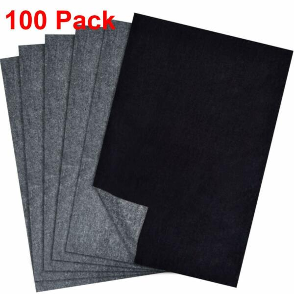 Carbon Paper Transfer Copy Black Sheets Graphite Tracing A4 For Wood Canvas Art $10.12