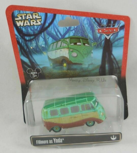 Disney Parks Store Exclusive Pixar Cars Star Wars Fillmore As Yoda Diecast Toy