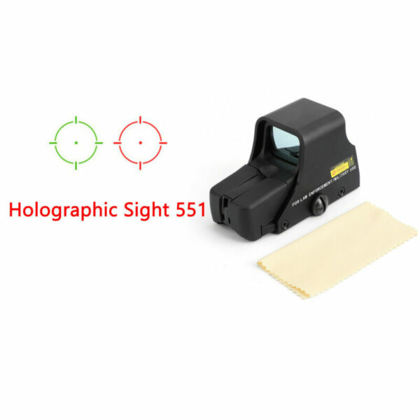 Red Green Dot Holographic Sight 551 Tactical Airsoft Scope Sight US T1