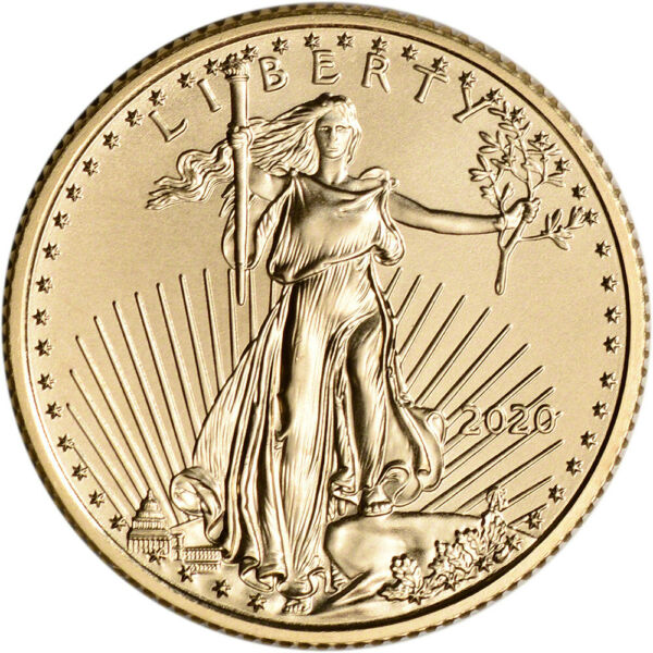 2020 American Gold Eagle 14 oz $10 - BU