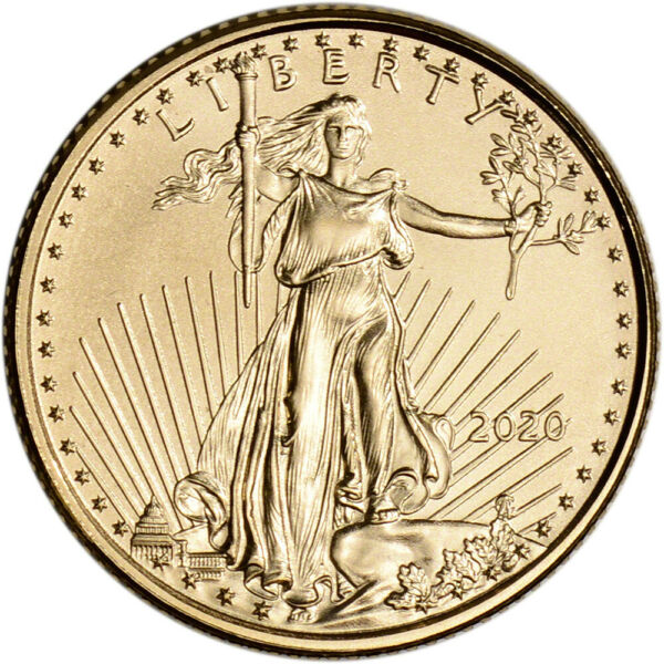 2020 American Gold Eagle 110 oz $5 - BU