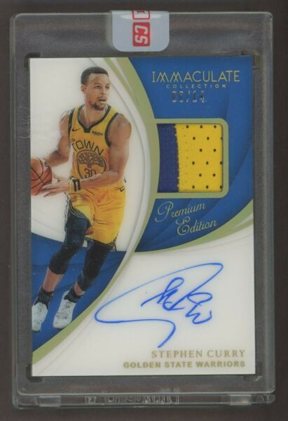 2018-19 Immaculate Premium Edition Stephen Curry GU Logo Patch AUTO 814