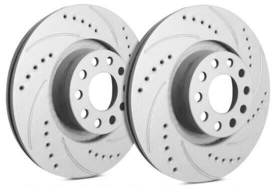 SP Performance Rear Rotors for 2017 X5 XDrive35D Drilled Slotted F06 3632634