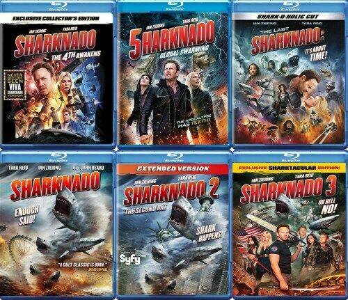SHARKNADO ALL 6 FILMS New Blu-ray 1 2 3 4 5 6 Hell No 4th Awakens Swarming Time