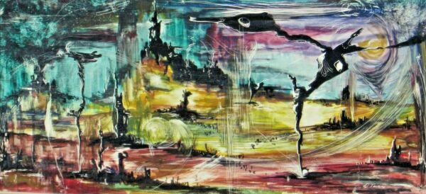 William Tury Attrib to California Set Designer Modernist Abstract Mixed Media $69.30