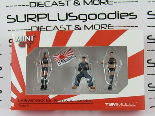 TSM Model Mini-GT 1:64 LB Works MR. KATO & SHOW GIRLS Type A Diorama Figures