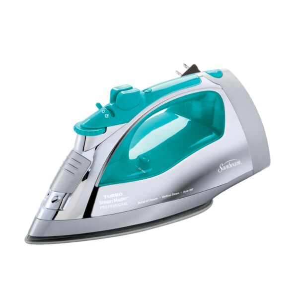 Sunbeam Steammaster Steam Iron  1400 Watt Large Anti-Drip Nonstick Stainless...