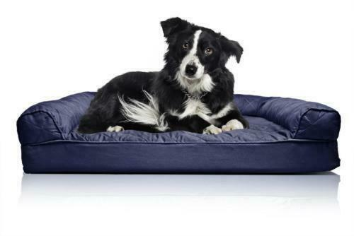 FurHaven Medium Quilted Orthopedic Sofa Pet Bed for Dogs and Cats Navy $200.00