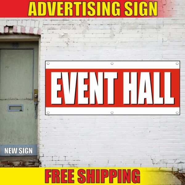 EVENT HALL Banner Advertising Vinyl Sign Flag wedding party place birthday decor