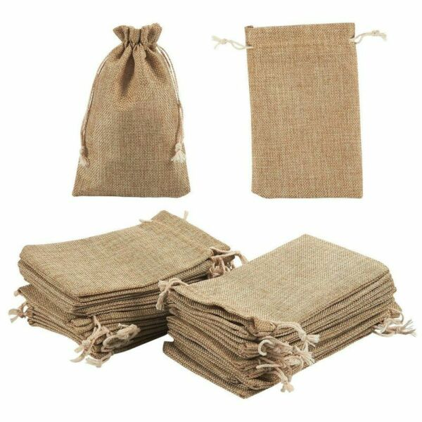 Jewelry Pouch Drawstring Bags 24 Pcs Burlap Gift Bags for Crafts Wedding Party