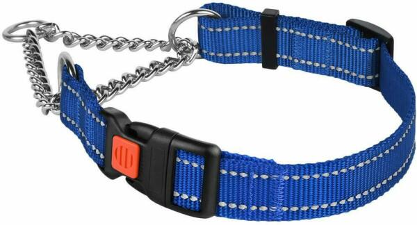 Reflective Martingale Collars for Dogs Training Chain Pet Choke Collar $14.99