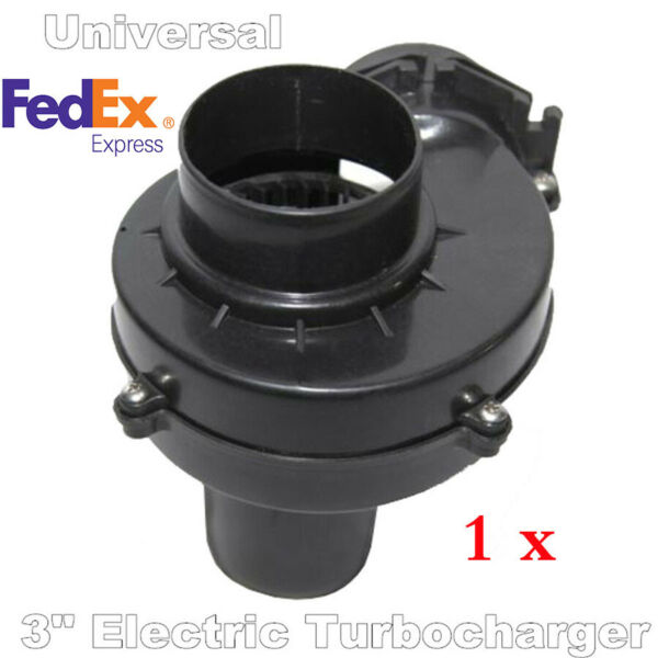 1x Car Black Electric Turbocharger Supercharger For 3