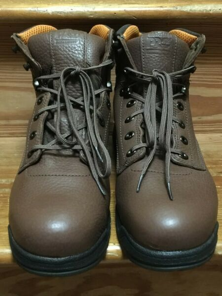Timberland Pro Titan 6quot; Mens Leather Alloy Safety Toe Work Boots Size 10.5 26063 $129.55