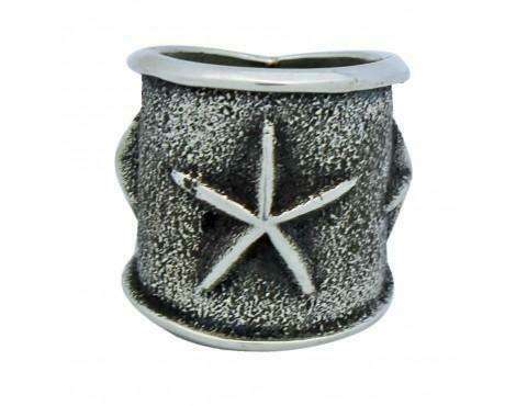 Kevin Yazzie Tufa Cast Wide Band Stars Sterling Silver Navajo Handmade 5